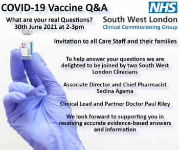 COVID-19 Vaccine Q&A: What are your real Questions? (30th July)